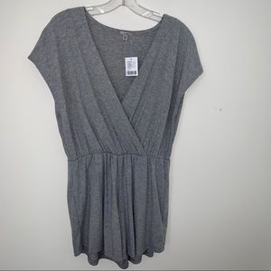 NWT Urban Outfitters Gray Criss Cross VNeck Romper